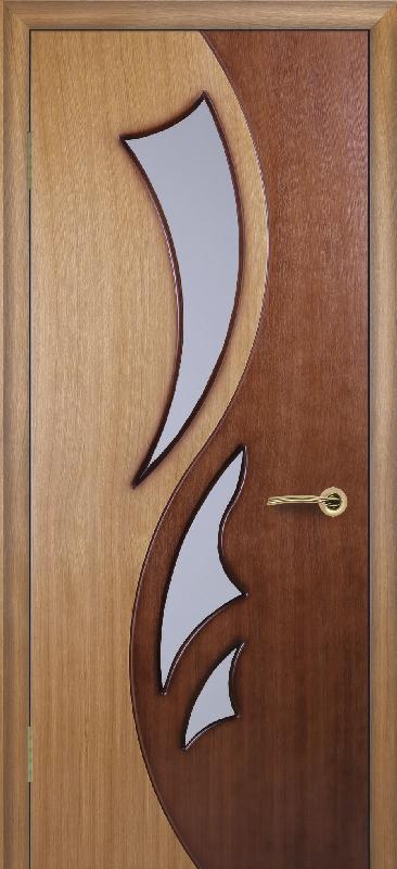 Современные двери амф лира по в цсвете табак и орех