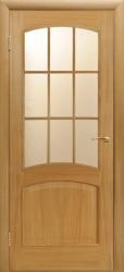 Межкомнатные двери Капри в светлом дубе под стекло