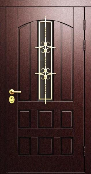 дверь входная уличная со стеклом элит