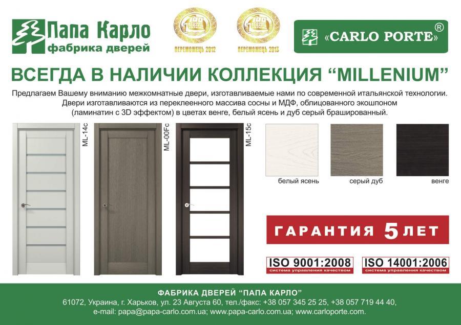 Двери папа карло на складе в Днепропетровске