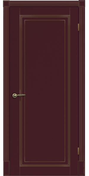 Двери серии прованс в цвете бордо с патиной