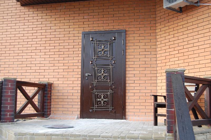 двери для дома с ковкой