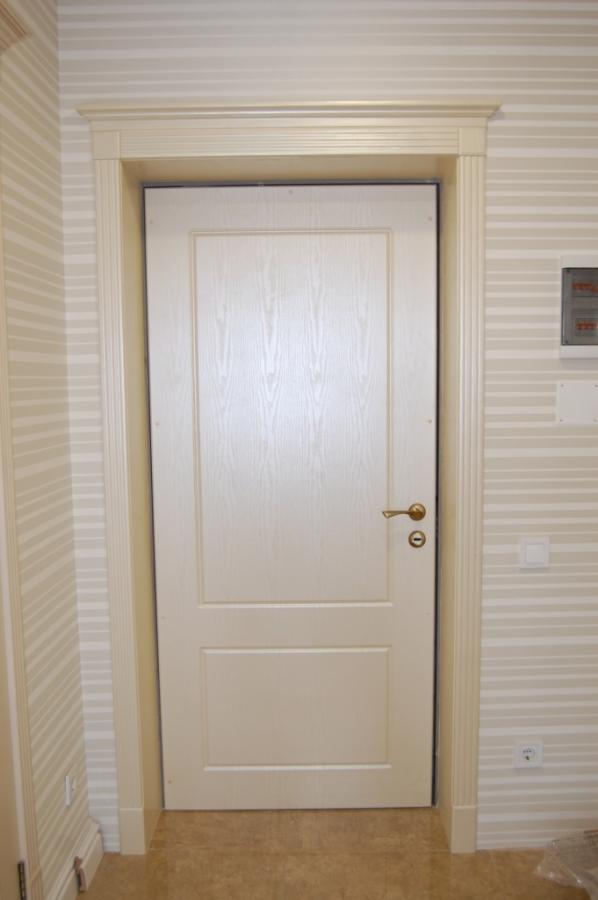 установка накладки на дверь входную
