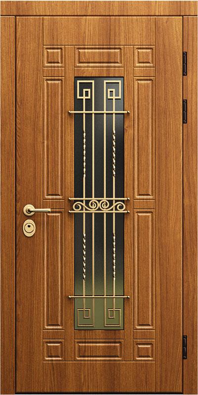теплые входные двери со стеклом