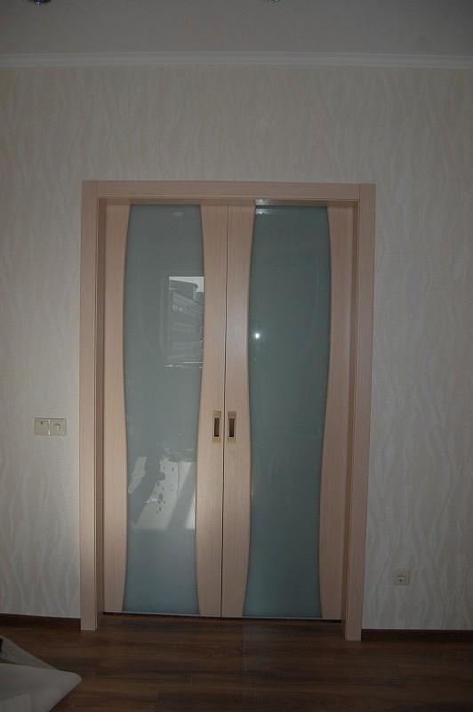 Вудок стильные современные двери в беленом дубе на Плеханова 7